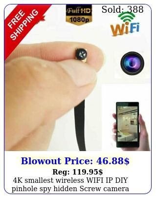 k smallest wireless wifi ip diy pinhole spy hidden screw camera mini video dv