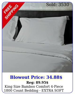 king size bamboo comfort piece count bedding extra soft deep sheet