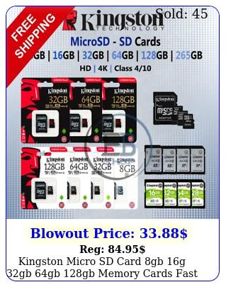 kingston micro sd card gb g gb gb gb memory cards fast read write lo