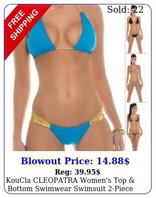 koucla cleopatra women's top bottom swimwear swimsuit piece bikini setsm