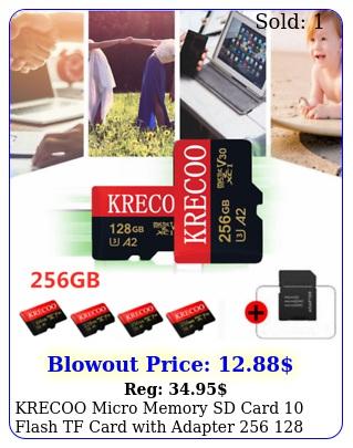 krecoo micro memory sd card flash tf card with adapter  gb us