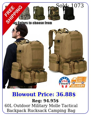l outdoor military molle tactical backpack rucksack camping bag travel hikin