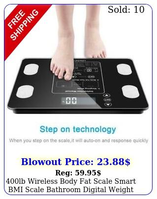 lb wireless body fat scale smart bmi scale bathroom digital weight scal