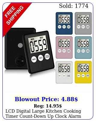 lcd digital large kitchen cooking timer countdown up clock alarm magneti