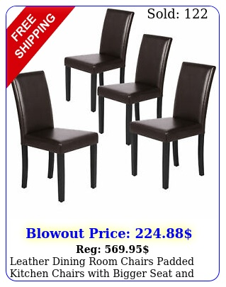 leather dining room chairs padded kitchen chairs with bigger seat solid woo