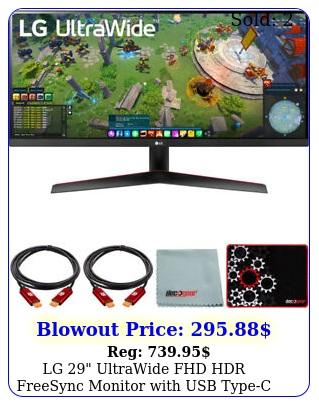 lg ultrawide fhd hdr freesync monitor with usb typec  mouse pad bundl