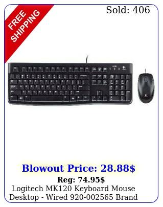 logitech mk keyboard mouse desktop wired bran
