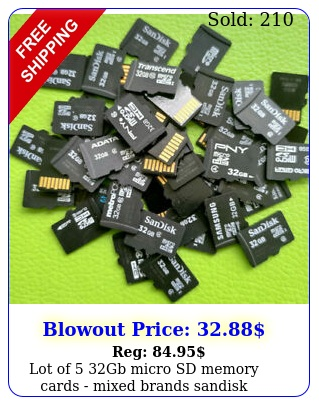 lot of gb micro sd memory cards mixed brands sandisk samsung etc micros