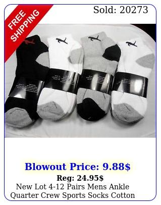 lot pairs mens ankle quarter crew sports socks cotton low cut siz