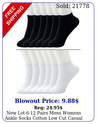 lot pairs mens womens ankle socks cotton low cut casual size