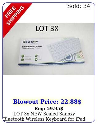 lot x sealed sanoxy bluetooth wireless keyboard ipad