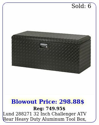lund  inch challenger atv rear heavy duty aluminum tool box blac