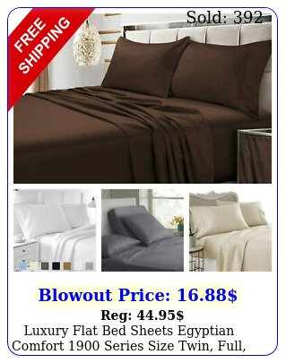 luxury flat bed sheets egyptian comfort series size twin full king quee