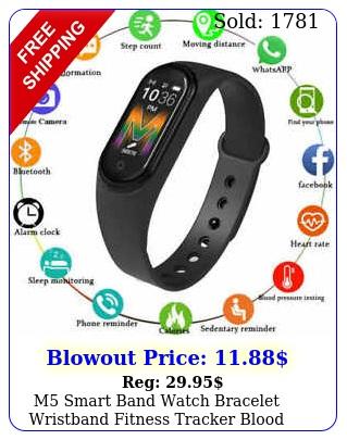 m smart band watch bracelet wristband fitness tracker blood pressure heartrat