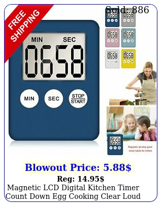magnetic lcd digital kitchen timer count down egg cooking clear loud alarm u