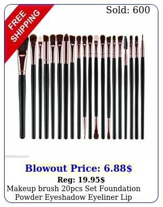 makeup brush pcs set foundation powder eyeshadow eyeliner lip cosmetic brushe