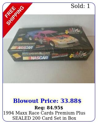 maxx race cards premium plus sealed card set i