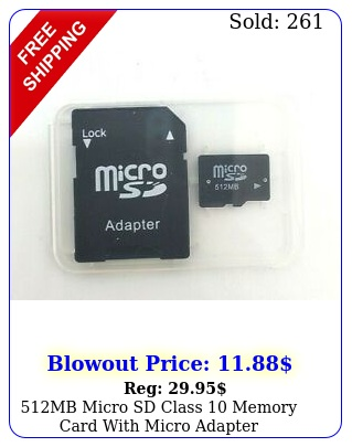 mb micro sd class memory card with micro adapter phonecomputertablet