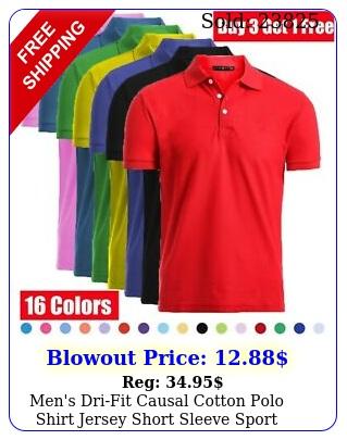 men's drifit causal cotton polo shirt jersey short sleeve sport causal golf