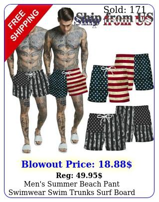 men's summer beach pant swimwear swim trunks surf board shorts american usa fla