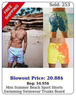 men summer beach sport shorts swimming swimwear trunks board pants color chang