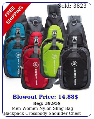 men women nylon sling bag backpack crossbody shoulder chest cycle daily trave