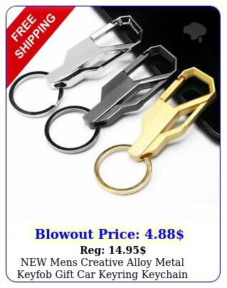 mens creative alloy metal keyfob gift car keyring keychain key chain rin