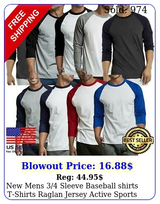 mens sleeve baseball shirts tshirts raglan jersey active sports te