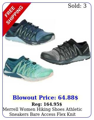 merrell women hiking shoes athletic sneakers bare access flex knit elasti