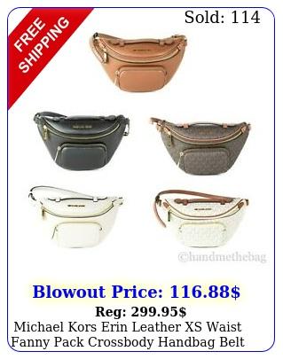 michael kors erin leather xs waist fanny pack crossbody handbag belt ba