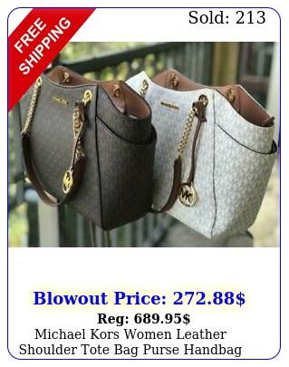 michael kors women leather shoulder tote bag purse handbag messenger satchel m