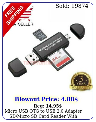 micro usb otg to usb adapter sdmicro sd card reader with standard usb mal