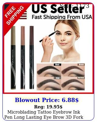 microblading tattoo eyebrow ink pen long lasting eye brow d fork makeup penci