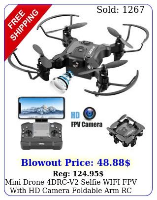 mini drone drcv selfie wifi fpv with hd camera foldable arm rc quadcopter u