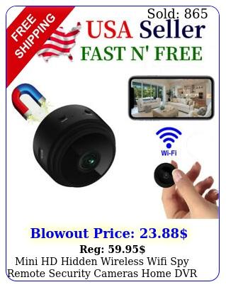mini hd hidden wireless wifi spy remote security cameras home dvr night visio