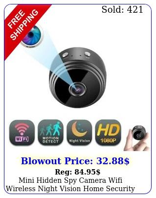 mini hidden spy camera wifi wireless night vision home security p hd dv