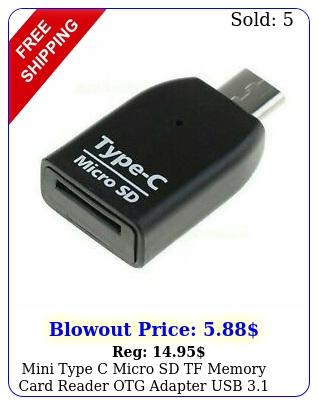 mini type c micro sd tf memory card reader otg adapter usb portabl