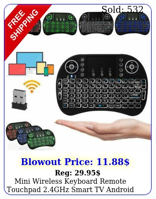 mini wireless keyboard remote touchpad ghz smart tv android tv pc backli