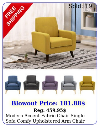 modern accent fabric chair single sofa comfy upholstered arm chair living roo