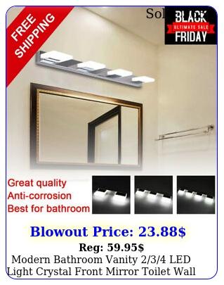 modern bathroom vanity led light crystal front mirror toilet wall lamp u