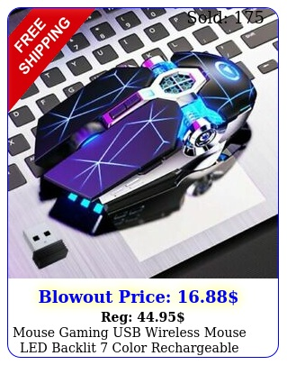 mouse gaming usb wireless mouse led backlit color rechargeable gaming p