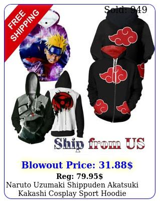 naruto uzumaki shippuden akatsuki kakashi cosplay sport hoodie sweatshirt jacke
