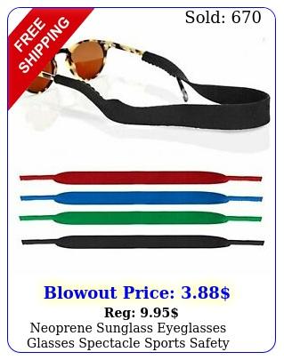 neoprene sunglass eyeglasses glasses spectacle sports safety holder stra