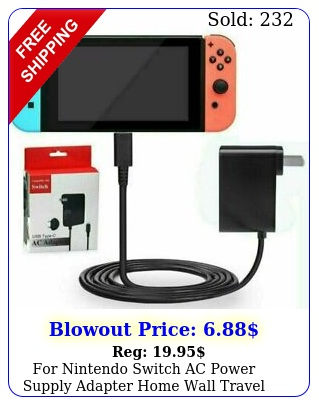 nintendo switch ac power supply adapter home wall travel charger cable