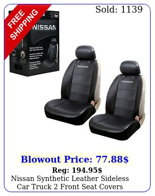 nissan synthetic leather sideless car truck front seat covers headrest cover