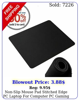 nonslip mouse pad stitched edge pc laptop computer pc gaming rubber bas