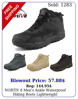 nortiv men's ankle waterproof hiking boots lightweight backpacking work shoe