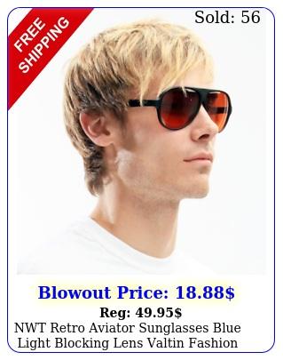 nwt retro aviator sunglasses blue light blocking lens valtin fashion styl