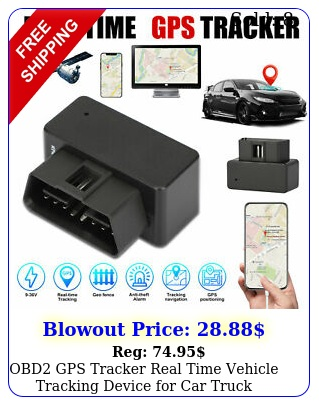 obd gps tracker real time vehicle tracking device car truck locator obd i