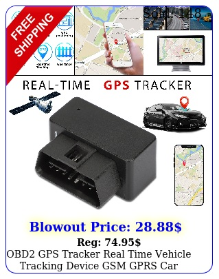 obd gps tracker real time vehicle tracking device gsm gprs car truck locator u